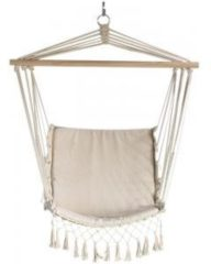 Beige Hangstoel Macramé - 120x50x52 cm