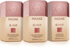Inoar GHair &GRATIS Borstel Keratin Treatment Keratine Behandeling 3x250ml glanzend&glad haar