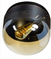 Expo Trading ETH Plafondlamp Dopp 1x E27 licht amber glas/zwart