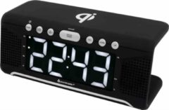 Soundmaster UR800SW Wekkerradio met QI charging in Zwart