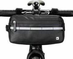 Zwarte Stuurtas - Bikepacking - Frametas - Waterdichte Tas voor Racefiets of Mountainbike - 2.25L - Rhinowalk