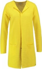 Gele Garcia lang stevig ribvest katoen sunny yellow - Maat XS