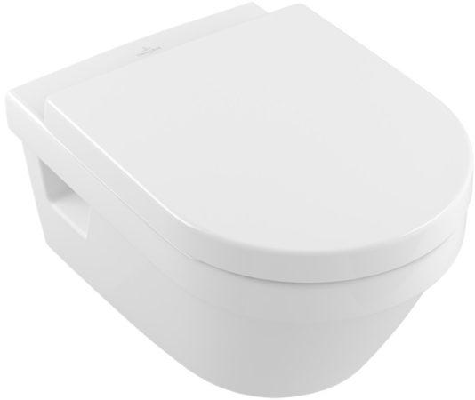 Afbeelding van Witte Villeroy & Boch Villeroy en boch Omnia architectura wandcloset zonder spoelrand ceramic+ wit 5684r0r1