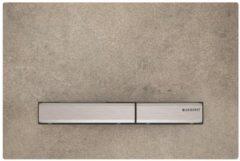 Geberit Sigma50 bedieningplaat met dualflush frontbediening voor toilet/urinoir 24.6x16.4cm chroom / betonlook 115.788.JV.2