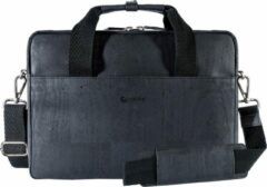 Zwarte Corkor CK146P laptoptas - aktetas - zwart - kurk - vegan - duurzaam