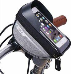 Sports4you Merkloos Stuurtas voor Smartphone - Telefoonhouder Fiets - Universele Fietstas - Extra Opbergruimte - Powerbank | Grijs
