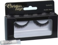 Zwarte Christian Faye Eyelashes Aleen With Glue