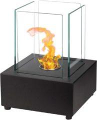 Zwarte Qlima Ethanol brander vierkant 22x22x30 cm FFB 022