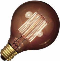 Gloeilampgoedkoop.nl Kooldraadlamp globe goud 40W grote fitting E27 80mm