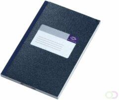 Atlanta 165 x 105 mm Blauw Hardcover Notitieboekje Gelinieerd 60 vel