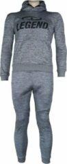 Legend Sports Joggingpak dames/heren met hoodie grijs XL