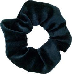 Kraagjeskopen.nl Scrunchie - 1 stuk - velvet - haarwokkel - haarelastiek - donker turquoise - velvet scrunchies - haarfroezel - froezel