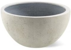 Luca Lifestyle Grigio plantenbak Low Egg pot M antiek wit betonlook