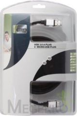 LegaMaster USB KABEL 3.0 - A PLUG NAAR MICRO B USB PLUG / PROFESSIONEEL / 2.50m