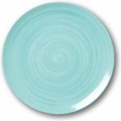 Blauwe Sanodegusto Verwarmde borden set met technologie – 4delig servies in porselein – Ø 27 cm – Sky blue kleur – voor alle gerechten – 4 stuks