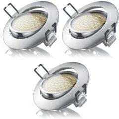 Brandson 3x LED Deckenspot mit Aluminium Druckgussrahmen »warmweiß / schwenkbar / 3,5W / 350Lumen«