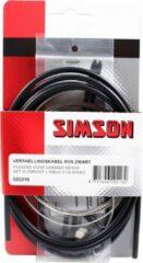 Roestvrijstalen Simson Versnellingskabelset Shimano Nexus zwart