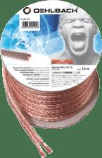Oehlbach Luidsprekerkabel 2 x 2,5 mm², minihaspel 10 m Luidspreker kabel
