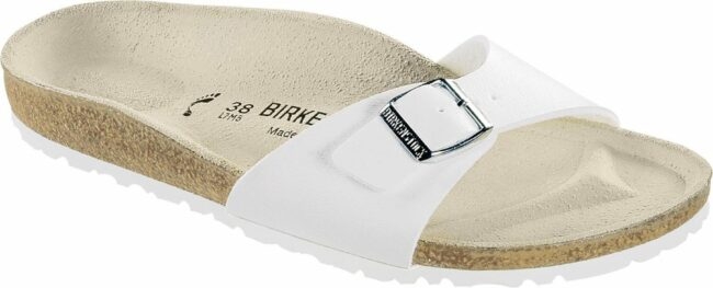 Afbeelding van Witte Birkenstock Women's Madrid Slim Fit Single Strap Sandals - White - EU 41/UK 7.5 - White