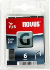 Novus Vlakdraad nieten G 11/6mm, 1200 st.