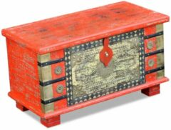 VidaXL Opbergkist rood mango hout 80x40x45 cm