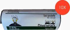 Zwarte Dimensio Afvalzakken met trekbandsluiting - 60L - 10 x 20 stuks (200stuks)