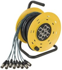DAP Audio DAP Python 8 Stagewheel 8x XLR, 16 meter Home entertainment - Accessoires