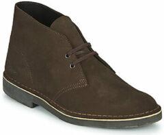 Bruine Clarks - Herenschoenen - Desert Boot 2 - G - dark brown suede - maat 6
