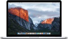 Zilveren Apple Refurbished Apple MacBook Pro Retina (Refurbished) - 15.4 inch (38cm) - Quad Core i7 2.2 - 16GB - 256GB SSD - MacOS 11 Big Sur - A-grade