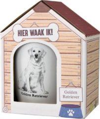 Witte Paper dreams Mok – Golden Retriever – Dier – Puppy – Hond – Dieren – Mokken en bekers – Keramiek – Mokken - Porselein - Honden – Cadeau - Kado