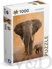 Rebo Productions Legpuzzel Elephants 1000 Stukjes
