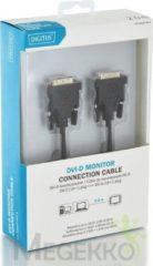 Digitus DVI Aansluitkabel [1x DVI-stekker 18+1-polig - 1x DVI-stekker 18+1-polig] 2.00 m Zwart