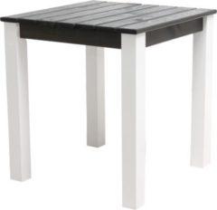 Gardenhome Massivholz Tisch STRANDA Gartentisch Esstisch Weiß/Taupegrau, ca. 67 x 67 x 72 cm