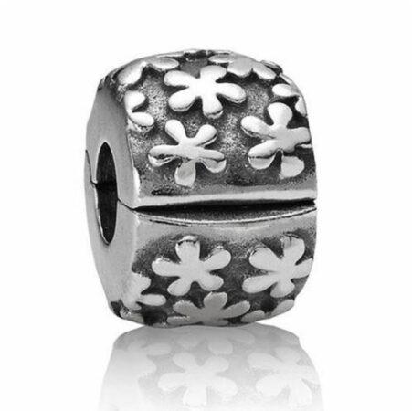 Afbeelding van Pandora bedel Clip-stopper zilver 'Bloemen' 790533