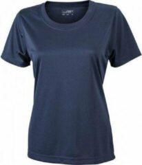 Merkloos / Sans marque James nicholson Dames t-shirt sport jn357 donker blauw maat xl