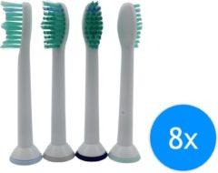 Witte Merkloos / Sans marque Opzet tandenborstels - Opzetborstels passend op Philips - P-HX-6014 - 8 stuks