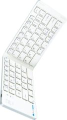 Witte Silvergear Opvouwbaar Draadloos Toetsenbord - QWERTY - Bluetooth - Voor Smartphone, Tablet en Laptop/Computer