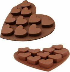 Bruine Akyol Chocolade bakvorm - Hartjes bakvorm - Bakvorm - Bakken - Chocola - Hartjes - Koken - Chef-kok - Cadeau - Keukenaccessoires - Gift - Liefde - Valentijnsdag
