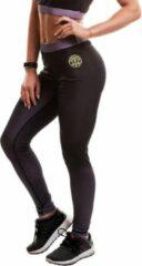 Zwarte Gold's Gym Ladies Sublimated Gym Leggings - Black - M