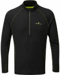 Zwarte Ronhill Tech Merino 1/2 Zip Running Top - Hardloopshirts (lange mouwen)
