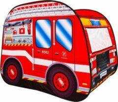 Rode Imaginarium Speeltent Brandweer - Pop Up Tent Brandweerauto - Met Handige Draagtas
