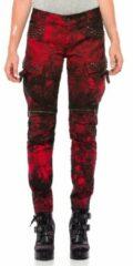Rode Cipo & Baxx Regular fit Broek Maat W27