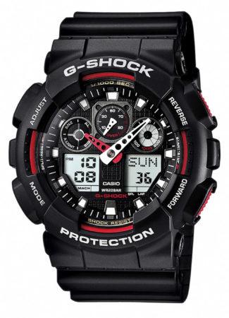 Afbeelding van Zwarte Casio G-Shock GA-100-1A4ER - Horloge - Kunststof - Zwart - Ø 50 mm