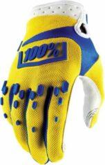 100 airmatic fietshandschoenen geel handschoenmaat