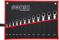 Sonic Ratelringsteeksleutelset 12-kant in etui 12-dlg. 601219