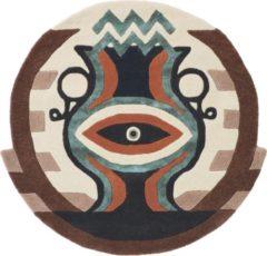 Ted Baker - Zodiac Aquarius 162105 Vloerkleed - 100 cm rond - Rond - Laagpolig, Rond Tapijt - Modern - Meerkleurig