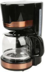 Gourmetmaxx Design-Kaffeemaschine, schwarz/kupfer GOURMETmaxx schwarz/kupfer