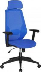 AMSTYLE NetStar Bürostuhl Stoff-Sitzfläche in blau Schreibtischstuhl mit Rückenlehne Drehstuhl höhenverstellbar
