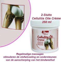 Pullach hof 2-Stuks Cellulitis Olie Crème 250 ml