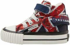 Rode ROCO Baby meisjes sneakers hoog - Union jack - maat 20